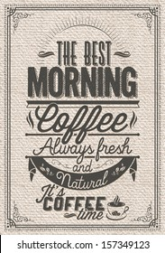 Retro-Vintage Coffee Background With Typography