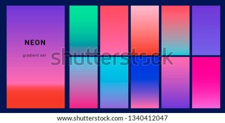 Retrowave Duotone Neon Gradient Futuristic Style Stock