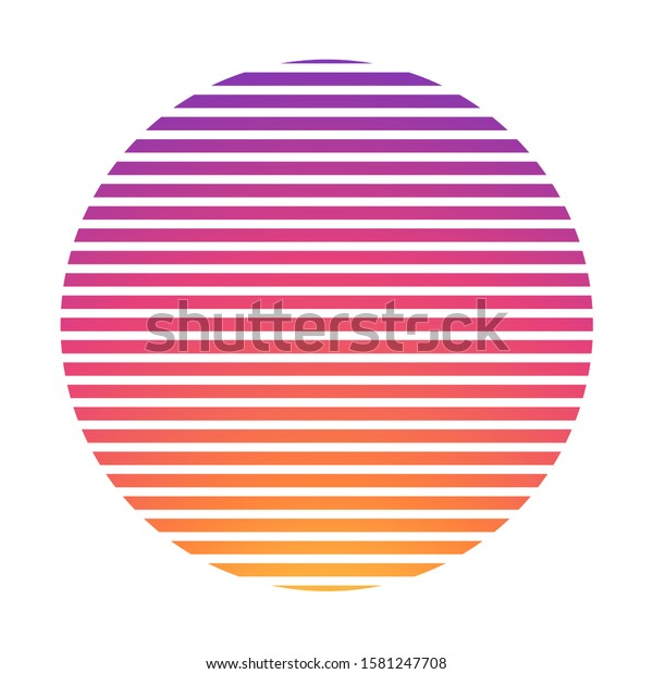 Retrowave Synthwave Vaporwave Yellow Pink Gradient Stock Vector Royalty Free 1581247708
