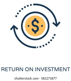 Return on Investment Vector Icon