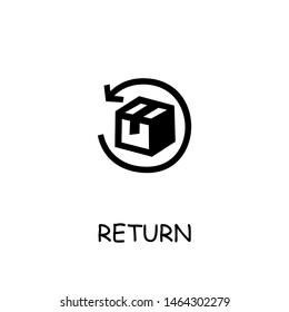 Return Parcel flat vector icon. Hand drawn style design illustrations.