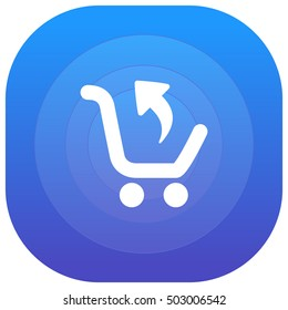 Return Purchase Purple - blue circular UI/UX App Icon / Logo Design