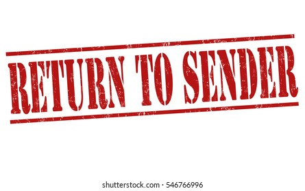 Return to Sender Images, Stock Photos & Vectors | Shutterstock