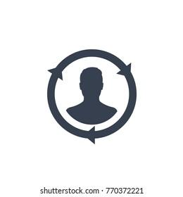 Returning customer, client retention icon