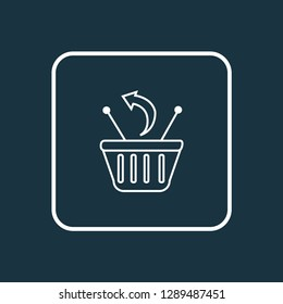 Returns icon line symbol. Premium quality isolated removal element in trendy style.