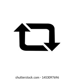 Retweet the vector icon. The symbol icon flat retweet