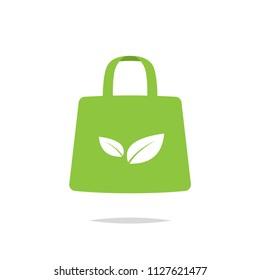 Reusable shopping bag vector
