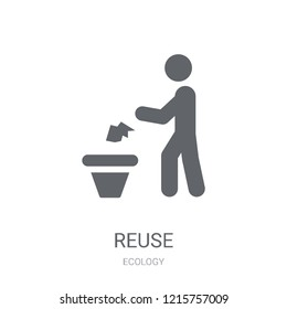 Reuse icon. Trendy Reuse logo concept on white background from Ecology collection. Suitable for use on web apps, mobile apps and print media.