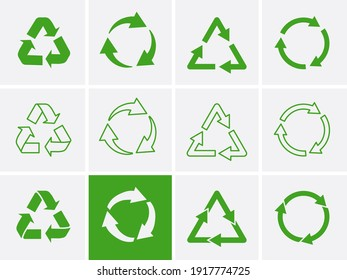 Reuse logo Icon. Recycle Recycling symbol. Vector illustration