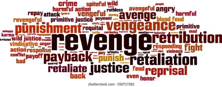 Revenge word cloud concept. Vector illustration