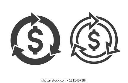 Revenue cycle icon vector