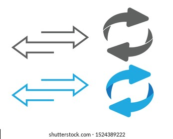 reversal arrow icon.Flip over or turn arrow. Reverse sign