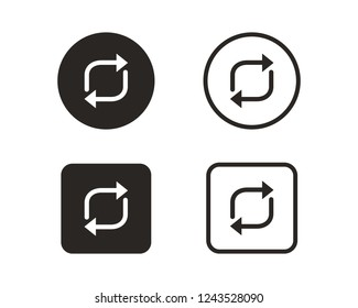 Reverse arrow icon sign symbol