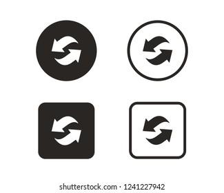 Reverse arrow, refresh, reload icon sign symbol