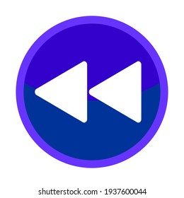 Reverse Button Icon, Media Player Illustration for design label use in Video Player, Website or Mobile Application