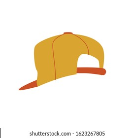Reverse cap. Cartoon design in vector