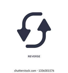 reverse isolated icon. Simple element illustration from geometry concept. reverse editable logo symbol design on white background. Can be use for web and mobile.