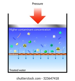 Reverse osmosis means forcing contaminated water through a membrane at pressure, so the water passes through but the contaminants remain behind.