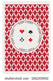 The reverse side of the playing card