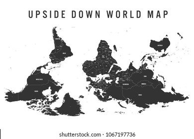 Upside down map images stock photos vectors shutterstock reversed or upside down political map of world south up orientation vector illustration gumiabroncs Gallery