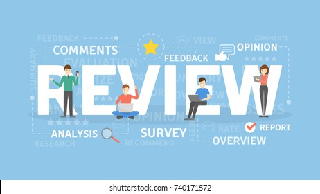 Review concept illustration. Idea of feedback, business and people.