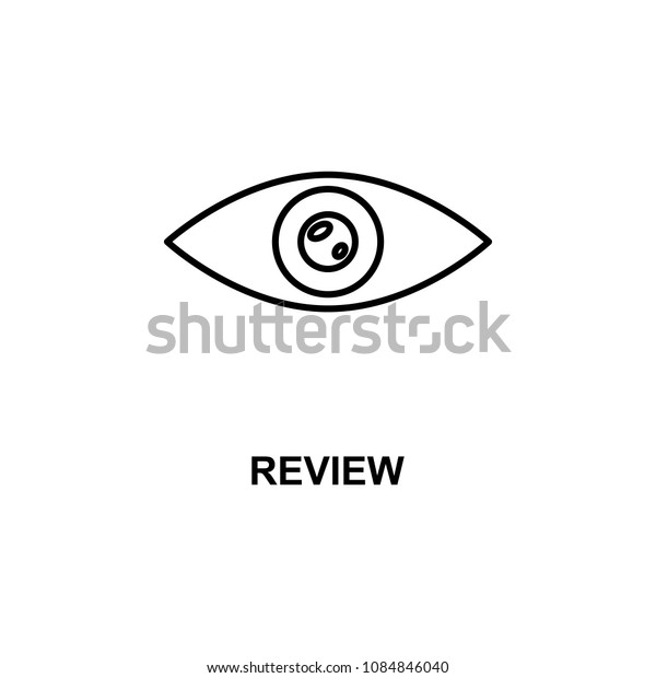 review eye icon. Element of cinema for mobile concept and web apps. Thin line review eye icon can be used for web and mobile. Premium icon on white background