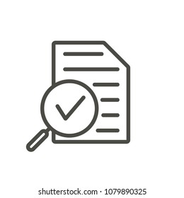 Review icon vector. Line research symbol isolated. Trendy flat advisor outline ui sign design. Thin linear review graphic pictogram for web site, mobile application. Logo audit illustration. Eps10.