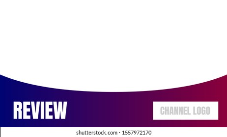 review thumbnail cover vector illustration