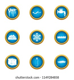 Revive icons set. Flat set of 9 revive vector icons for web isolated on white background