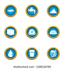 Reviver icons set. Flat set of 9 reviver vector icons for web isolated on white background