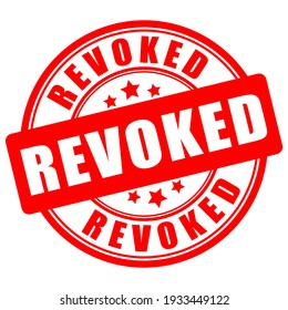 Revoked vector sign isolated on white background