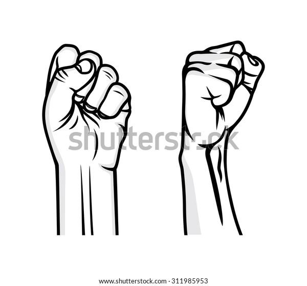 Revolution Fist Vector Illustration Stock Vector (Royalty