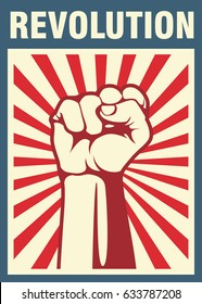 Revolutionsplakat, erste Hand