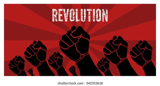 Revolution poster - vector template