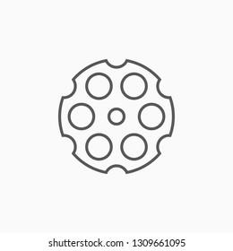 revolver cylinder icon