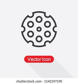 Revolver Cylinder Icon Vector Illustration Eps10