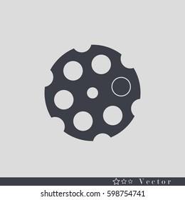 revolver cylinder illustration isolated