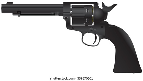 Revolver with a cylindrical drum - Duke Colt.