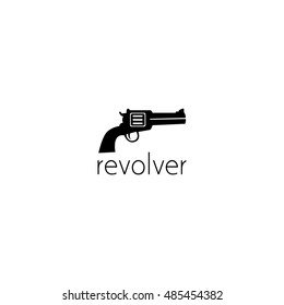 revolver logo graphic design concept. Editable revolver element, can be used as logotype, icon, template in web and print