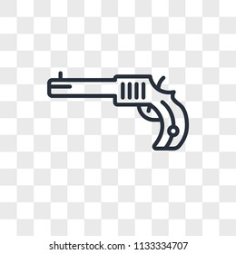 Revolver vector icon isolated on transparent background, Revolver logo concept