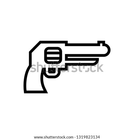 revolver vector icon semiautomatic