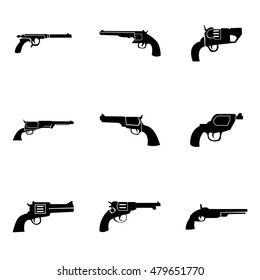 revolver vector. Simple revolver illustration, editable elements, can be used in logo design