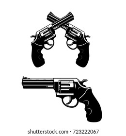 Revolvers gun set