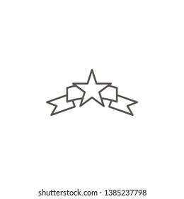 Reward, award, star vector icon. Element of simple icon for websites, web design, mobile app, info graphics. Thick line icon for website design and development