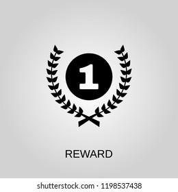 Reward icon. Reward symbol. Flat design. Stock - Vector illustration.