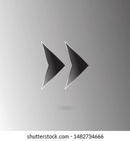 Rewind button flat icon/ Rewind illustration .eps10/ For websites, applications, programs, etc.