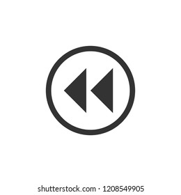 Rewind. Icon Flat
