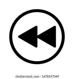 rewind icon. flat illustration of rewind vector icon for web. icon vector illustration