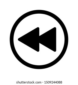 rewind icon. flat illustration of rewind vector icon for web