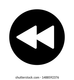 rewind icon on white background. flat illustration of rewind vector icon for web